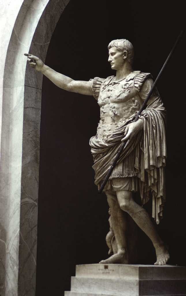 Stock Photo: 2585-303 Augustus of Primaporta Roman Art Marble Vatican Museums and Galleries, Vatican City