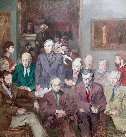 Title Unknown by Raphael Soyer, 1899-1987 : Stock Photo