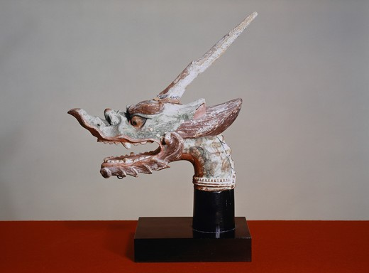 Stock Photo: 260-1092 Head of a Horned Dragon