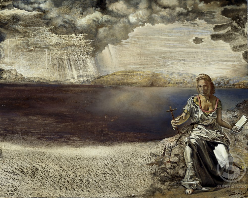 St. Helena Of Port Lligat by Salvador Dali, 1904-1989, USA, Florida, St. Petersburg, Salvador Dali Museum : Stock Photo