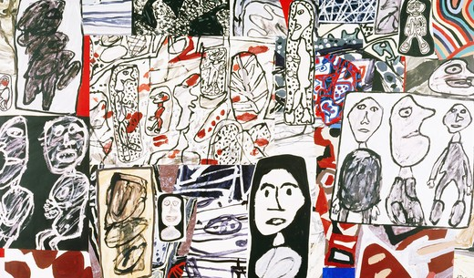 Title Unknown by Jean Dubuffet, 1901-1985 : Stock Photo