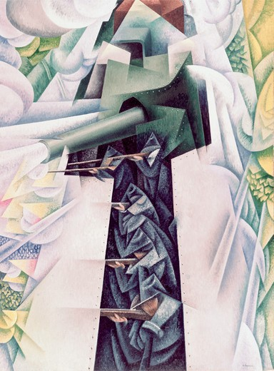 Title Unknown by Gino Severini, 1883-1966 : Stock Photo