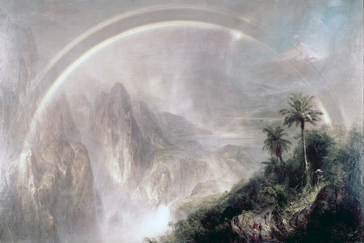 Stock Photo: 260-140 Rainy Season in Tropics Purged by Frederic Edwin Church, oil on canvas, (1826-1900), 1866