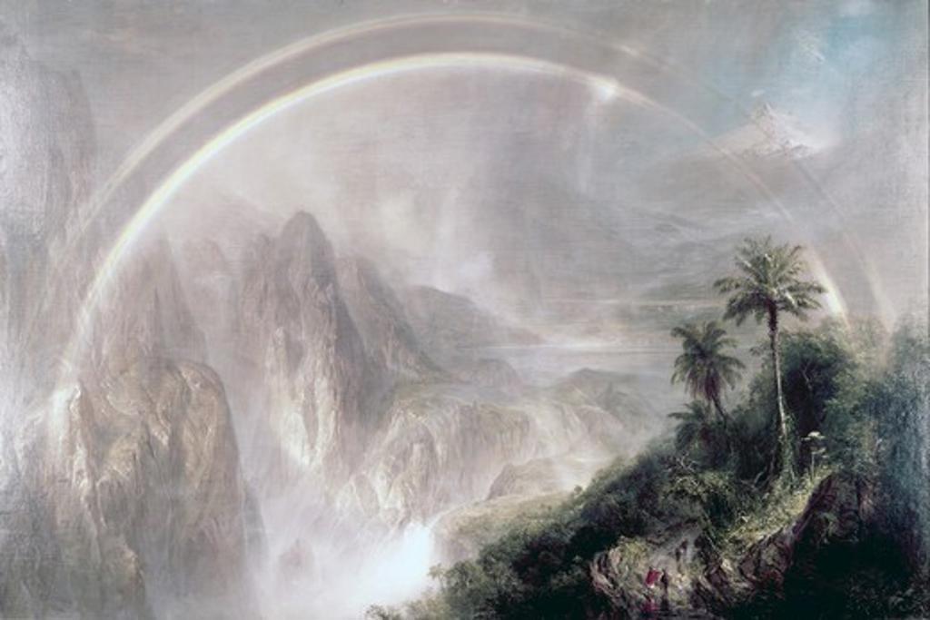 Rainy Season in Tropics Purged by Frederic Edwin Church, oil on canvas, (1826-1900), 1866 : Stock Photo