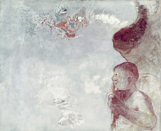 Stock Photo: 260-1411 Angel by Odilon Redon, 1840-1916