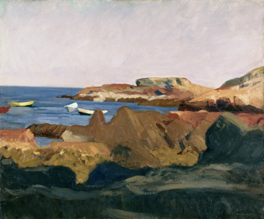 Stock Photo: 260-145 Cove at Ogunquit by Edward Hopper, oil on canvas, 1914, 1882-1967, USA, New York State, New York City, Whitney Museum of American Art