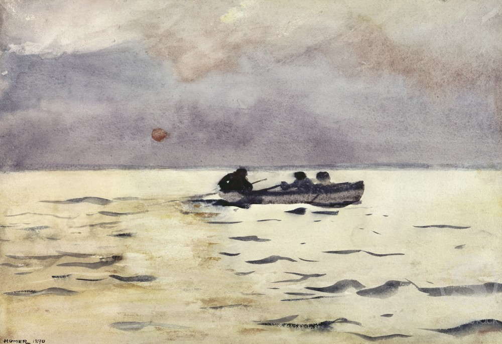 Stock Photo: 260-239 Rowing Home
