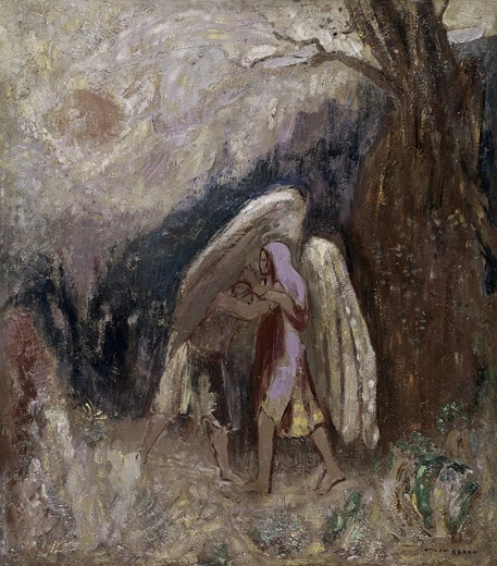 Stock Photo: 260-247 Jacob Wrestling with the Angel 