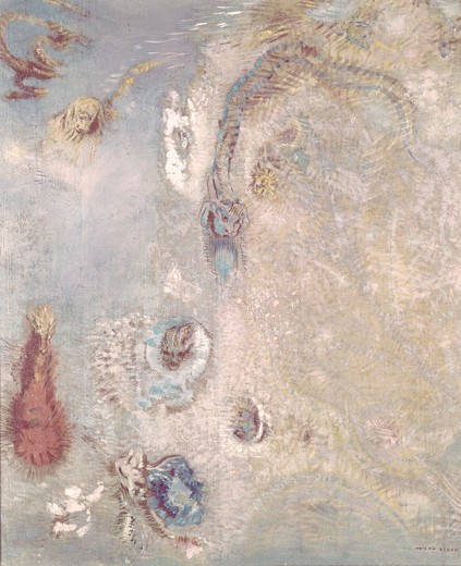 Stock Photo: 260-278 Title Unknown (Abstract Fantasy) Odilon Redon (1840-1916 French)