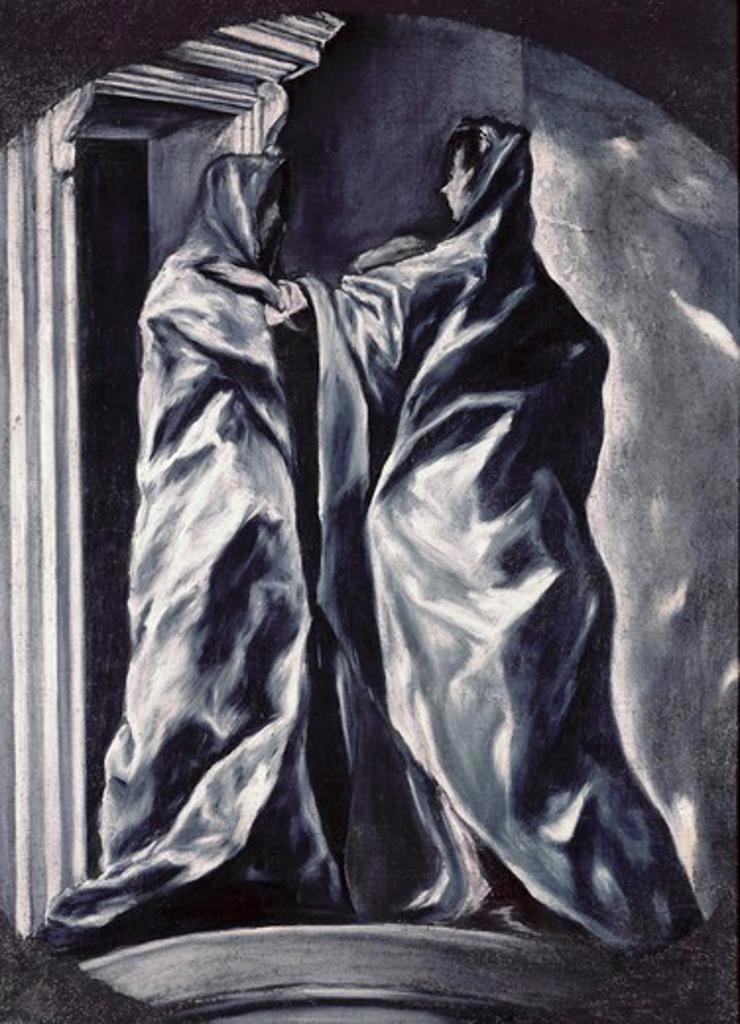 Stock Photo: 260-301 The Visitation 1610-14 El Greco (1541-1614/Greek) Oil on canvas