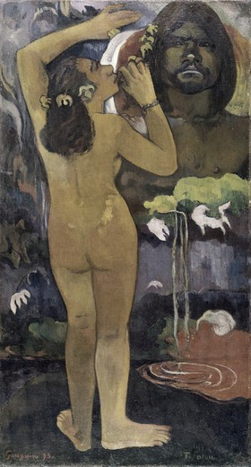 Stock Photo: 260-367 Hina, Moon Goddess & Te Fatu, Earth Spirit
