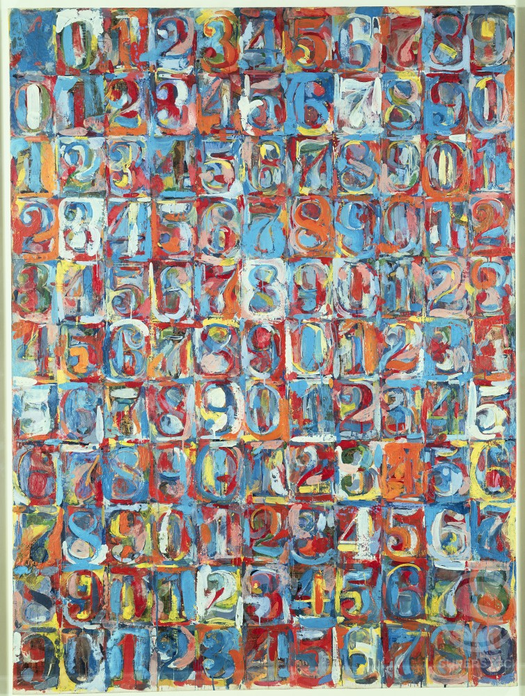 Stock Photo: 260-376 Numbers in Color by Jasper Johns, encaustic collage, born 1930, USA, New York State, Buffalo, Albright Knox Art Gallery