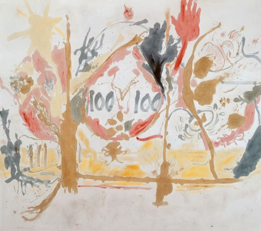 Stock Photo: 260-378 Eden by Helen Frankenthaler, oil on canvas, 1957, born 1928, Private Collection