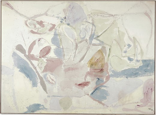 Mountains and Sea by Helen Frankenthaler, oil on canvas, 1952, born 1928, Private Collection : Stock Photo