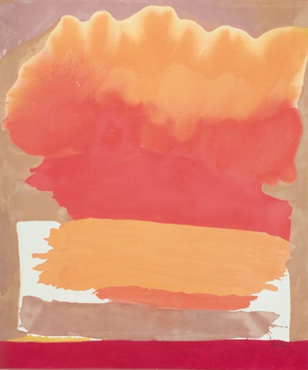 Stock Photo: 260-384 Tangerine by Helen Frankenthaler, born 1928, Private Collection