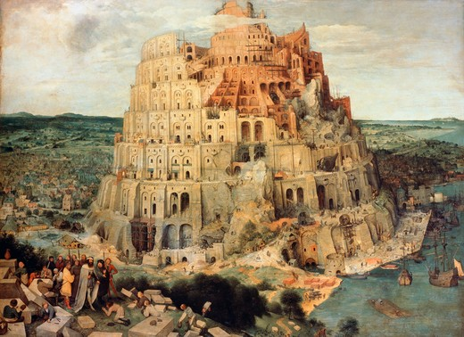 Stock Photo: 260-437 Tower Of Babel C.1563 Pieter Bruegel the Elder (ca.1525-1569 Flemish) Oil On Wood Panel Kunsthistorisches Museum, Vienna, Austria
