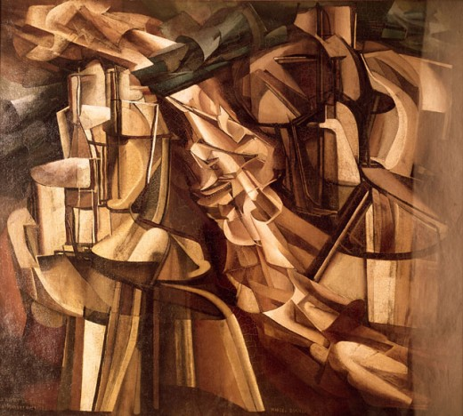 King and Queen surrounded by swift nudes by Marcel Duchamp, 1887-1968, USA, Pennsylvania, Philadelphia Museum of Art : Stock Photo