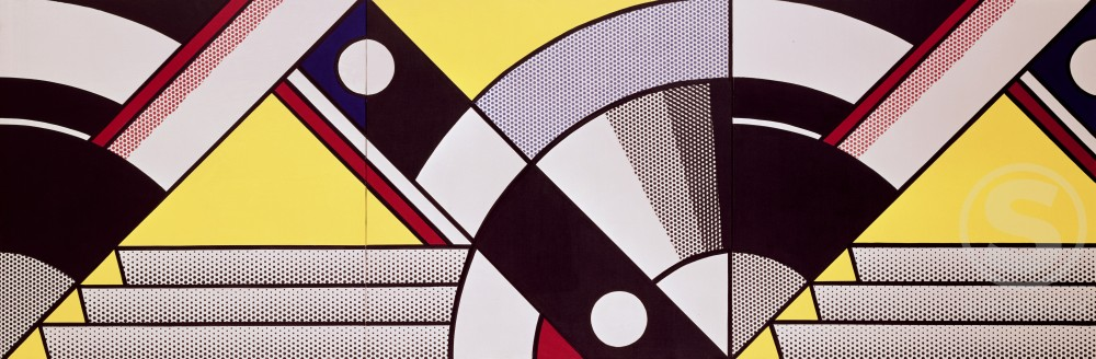 Study for Expo '67 by Roy Lichtenstein, 1923-1997 : Stock Photo