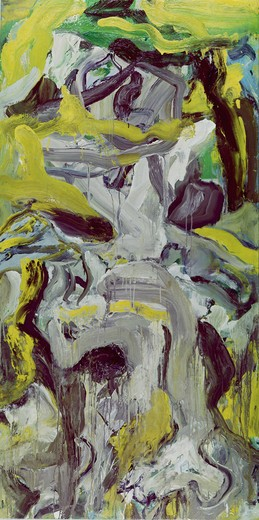 Stock Photo: 260-513 Door painting by Willem de Kooning, 1971, 1904-1997