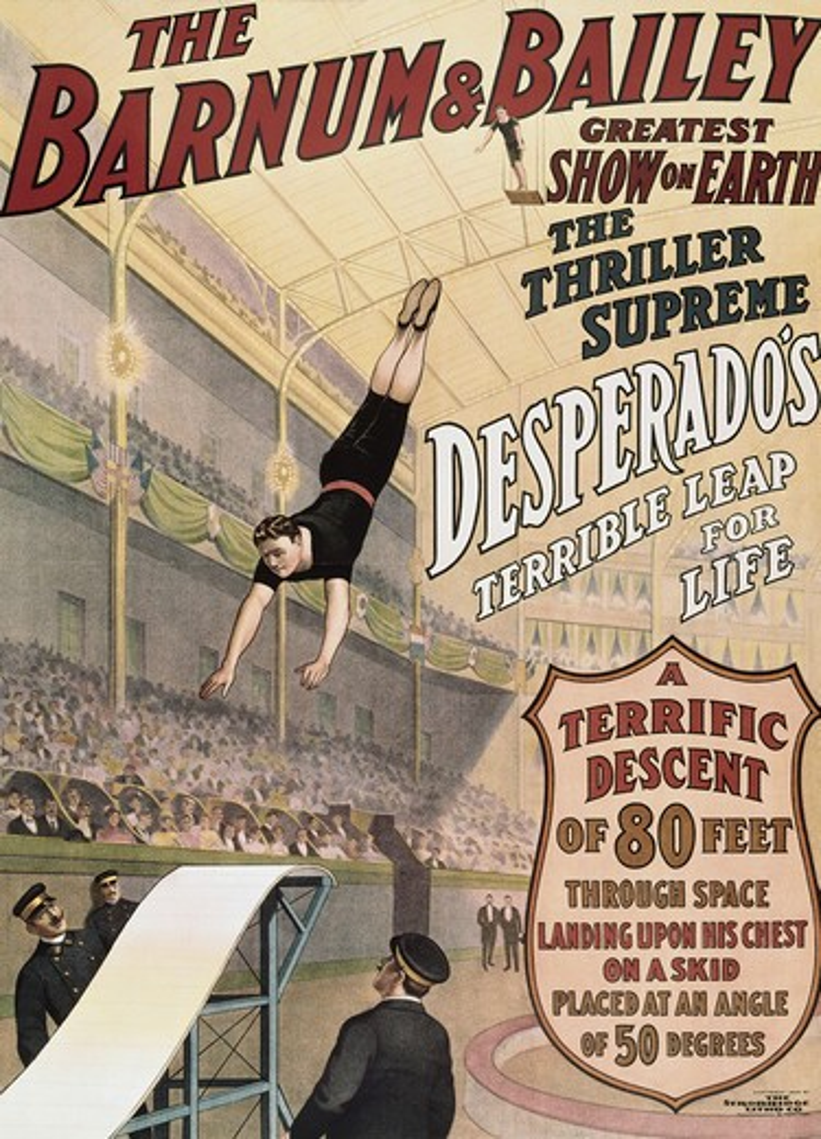 Stock Photo: 260-520 Barnum & Bailey- Desperado's Terrible Leap Posters