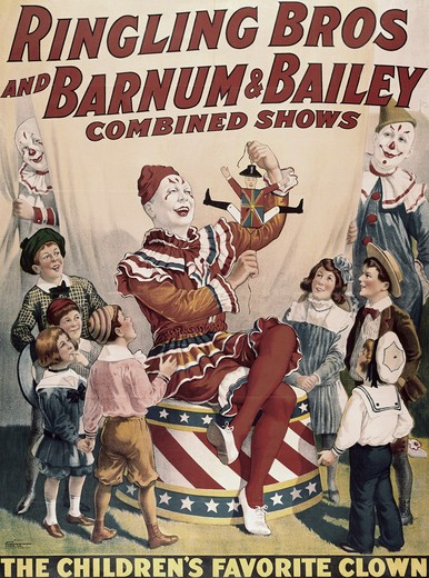 Stock Photo: 260-522 Ringling Bros. Barnum & Bailey - Children's Favorite Clown