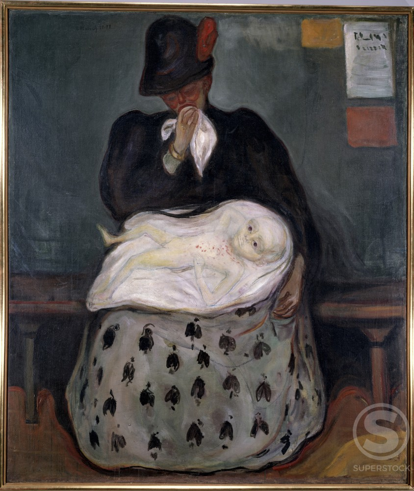 Inheritance by Edvard Munch, oil on canvas, 1898, 1863-1944, Norway, Oslo, National Gallery : Stock Photo