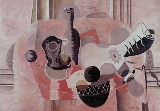 Still life by Georges Braque, oil on canvas, 1935, 1882-1963, Lasker Collection : Stock Photo