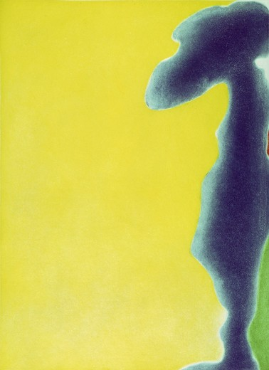 Stock Photo: 260-598 Yellow span by Helen Frankenthaler, 1968, born 1928
