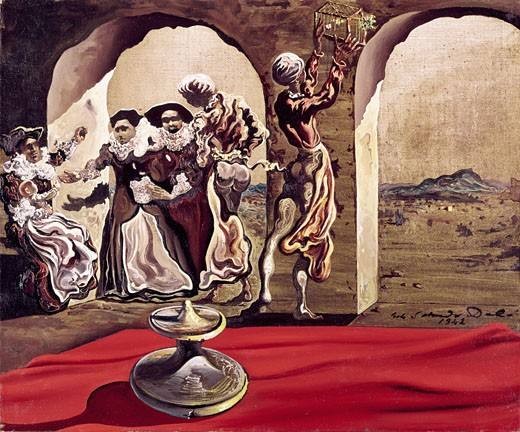 Stock Photo: 260-609 Bust of Voltaire number1 by Salvador Dali, oil on canvas, 1941, 1904-1989, Private Collection