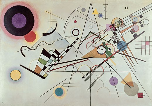 Composition number 8 by Vasily Kandinsky, 1923, 1866-1944 : Stock Photo