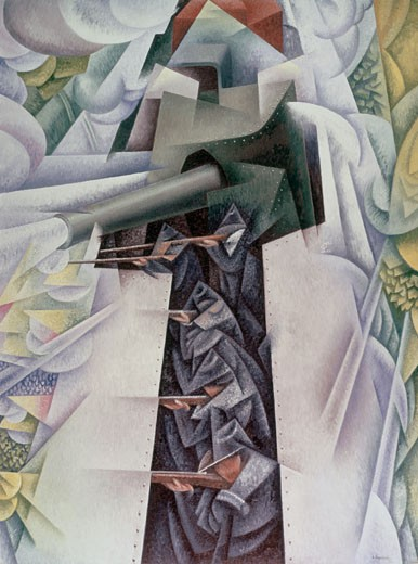 Stock Photo: 260-629 Tanks and Guns by Gino Severini, 1883-1966