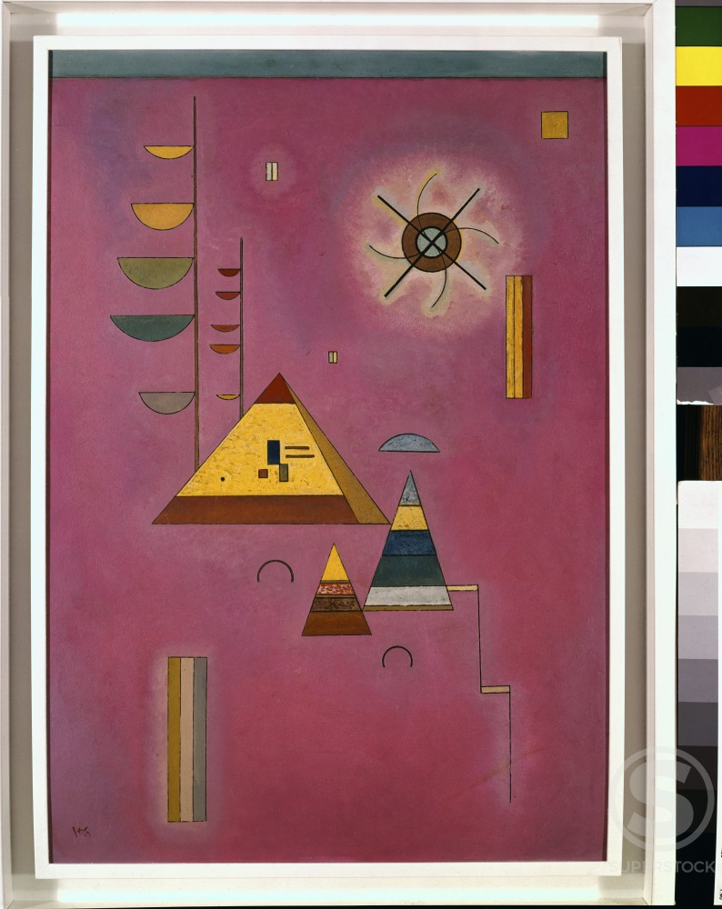Sweet pink by Vasily Kandinsky, ink with watercolor, 1929, 1866-1944, UK, London, Sotheby's : Stock Photo