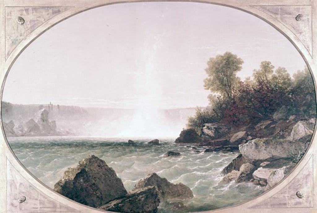 Stock Photo: 260-678 Niagara Falls by John Frederick Kensett, (1816-1872)