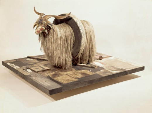 Monogram (side view) by Robert Rauschenberg, 1955-59, born 1925 : Stock Photo
