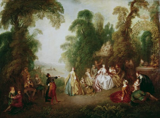 Stock Photo: 260-714 The Dance Jean-Baptiste Pater (1695-1736 French)