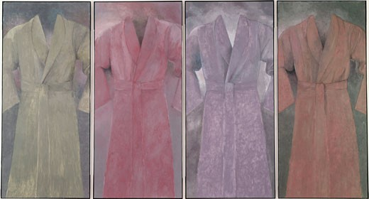 Stock Photo: 260-741 4 robes existing in this vale of tears by Jim Dine, born 1935