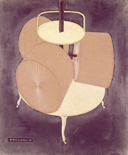 Chocolate grinder 2 by Marcel Duchamp, 1914, 1887-1968 : Stock Photo