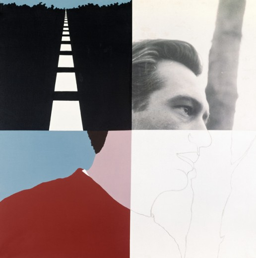 Stock Photo: 260-800 4 squares by Allan D'Arcangelo, 1930-1998