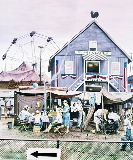 Stock Photo: 260-809 County fair by Stevan Dohanos, 1907-1994