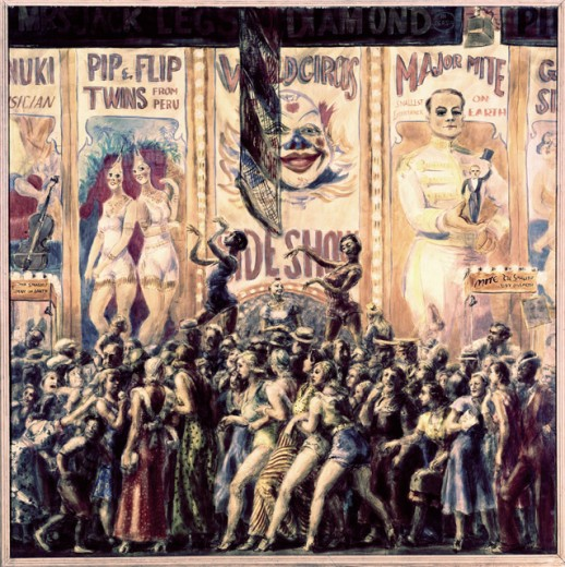 Pip and Flip by Reginald Marsh, 1932, 1898-1954, USA, Illinois, Chicago, Terra Museum of Art. : Stock Photo