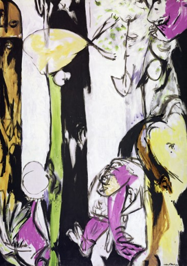 Stock Photo: 260-952 Easter and totem by Jackson Pollock, oil on canvas, 1953, 1912-1956, USA, New York State, New York City, Museum of Modern art and craft.