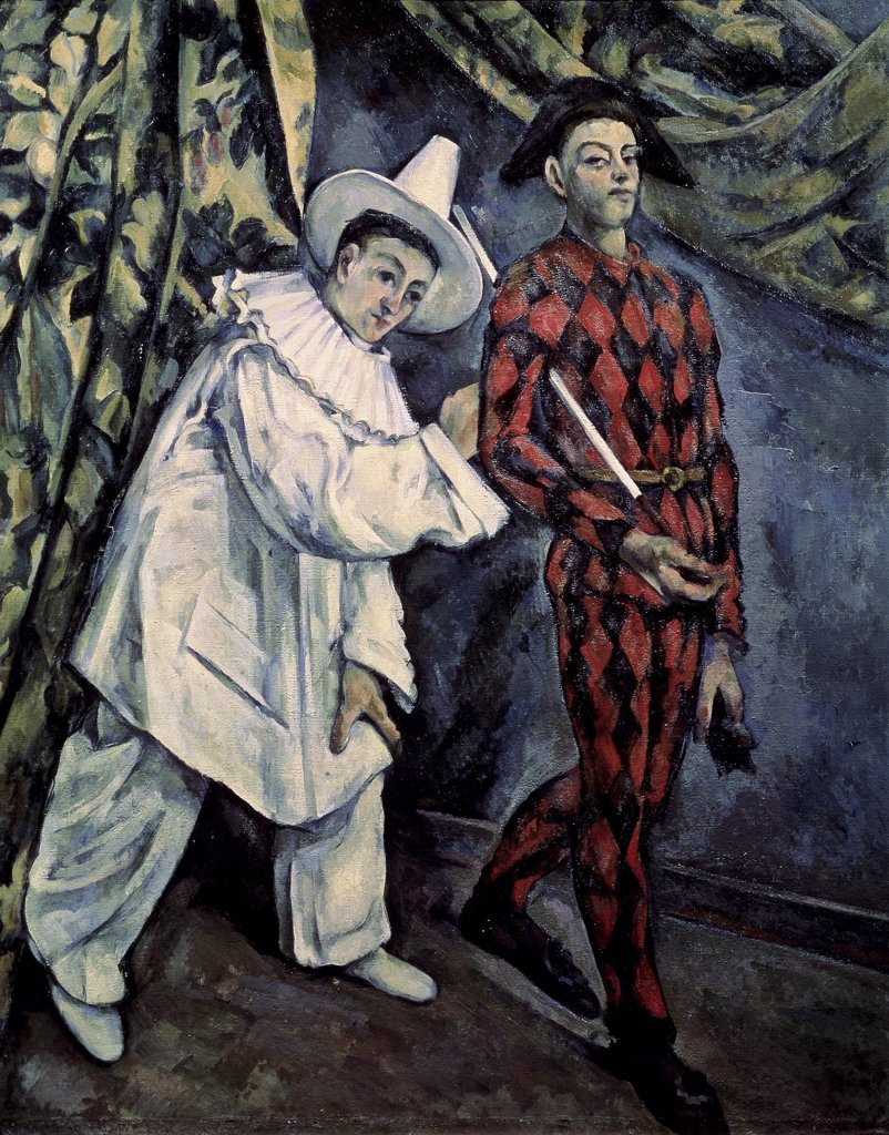 Stock Photo: 261-103 Pierrot and Harlequin (Mardi Gras)