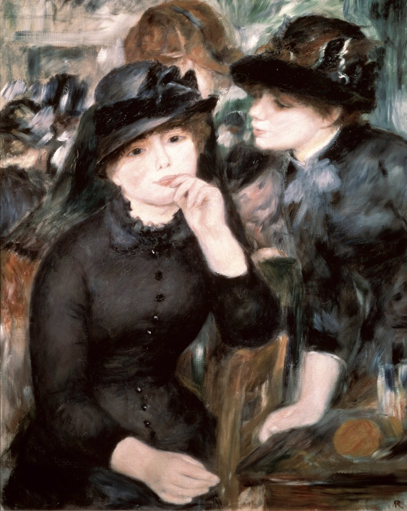 Stock Photo: 261-112 Two Women Pierre- Auguste Renoir (1841-1919/French) Oil on canvas Pushkin Museum of Fine Arts, Moscow, Russia
