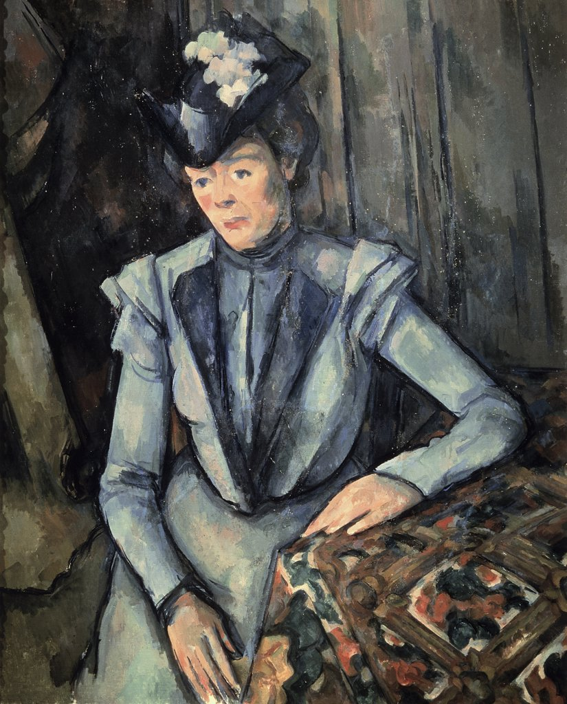 Stock Photo: 261-115 The Woman in Blue