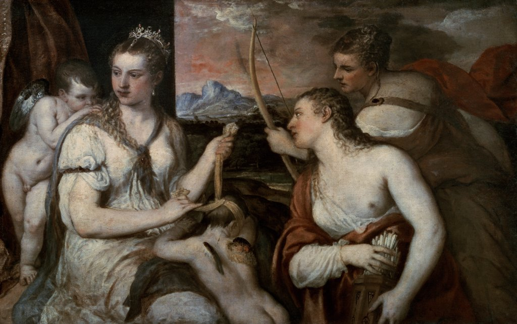 Venus Blindfolding Cupid 