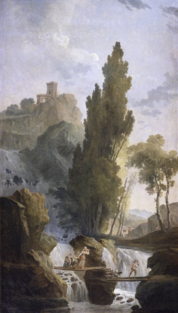 Stock Photo: 261-145 The Antique Temple Hubert Robert (1733-1808 French) Oil On Canvas Pushkin Museum of Fine Arts, Moscow, Russia