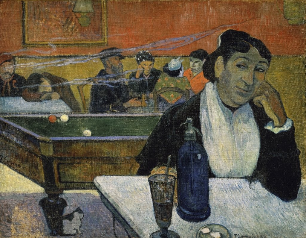 Stock Photo: 261-155 Night Cafe at Arles, 1888, Paul Gauguin (1848-1903/ French), Oil on canvas, Pushkin Museum of Fine Arts, Moscow
