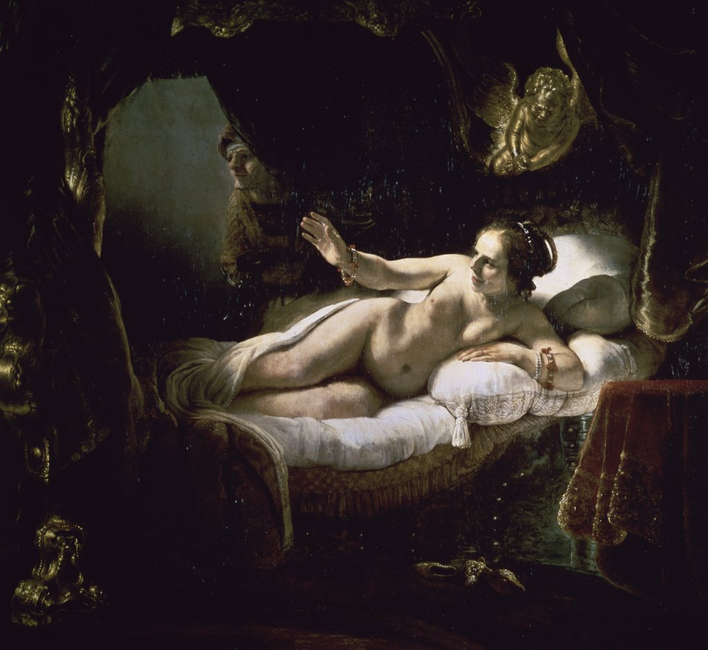 Stock Photo: 261-157 Danae 1636-47 Rembrandt Harmensz van Rijn (1606-1669 Dutch) Oil on canvas Hermitage Museum, St. Petersburg, Russia