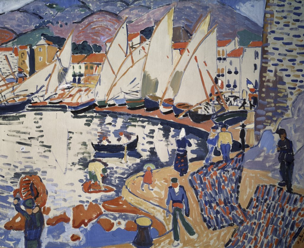 Drying The Sails by Andre Derain, 1905, 1880-1954, Russia, Moscow, Pushkin Museum of Fine Arts : Stock Photo