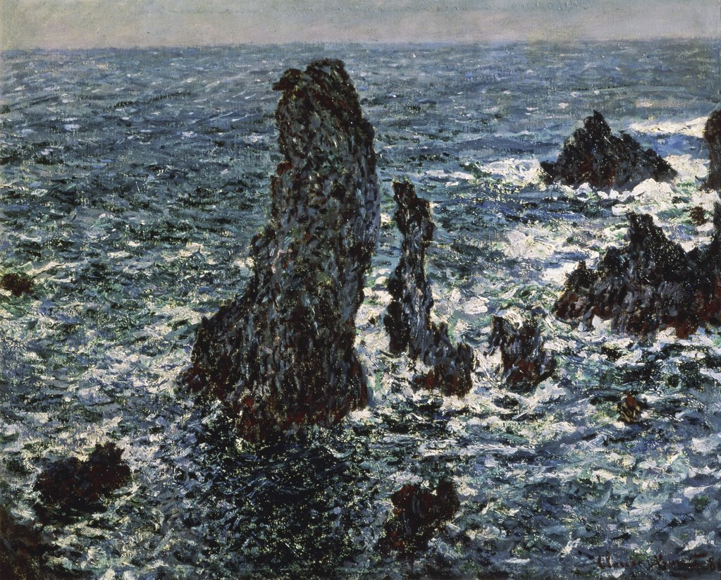 Stock Photo: 261-173 Rocks at Belle Isle 
